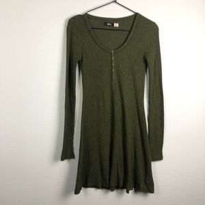 Urban Outfitters Dresses - Urban Outfitters Henley Long Sleeve Mini Dress